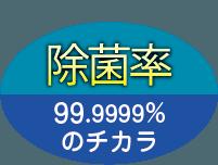 除菌率 99.999%のチカラ