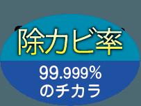 除カビ率 99.999%のチカラ